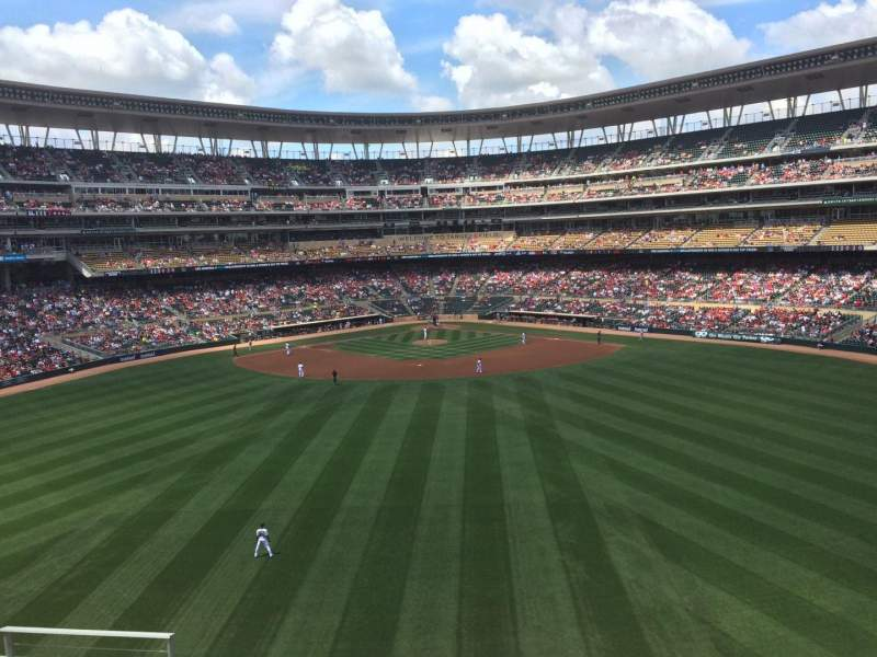 Seating view for Target Field Section 235 Row 6 Seat 13