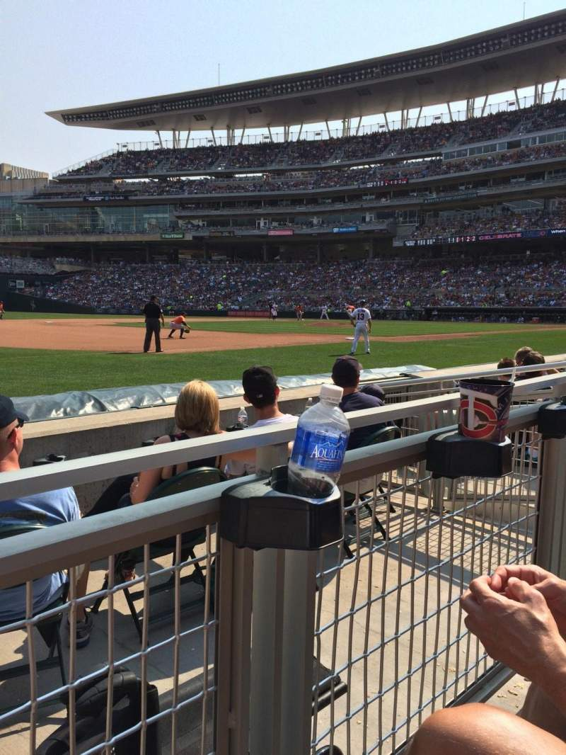 Seating view for Target Field Section 16 Row 4 Seat 9