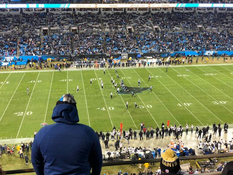 Seating view for Bank of America Stadium Section 516 Row 1A Seat 11-12