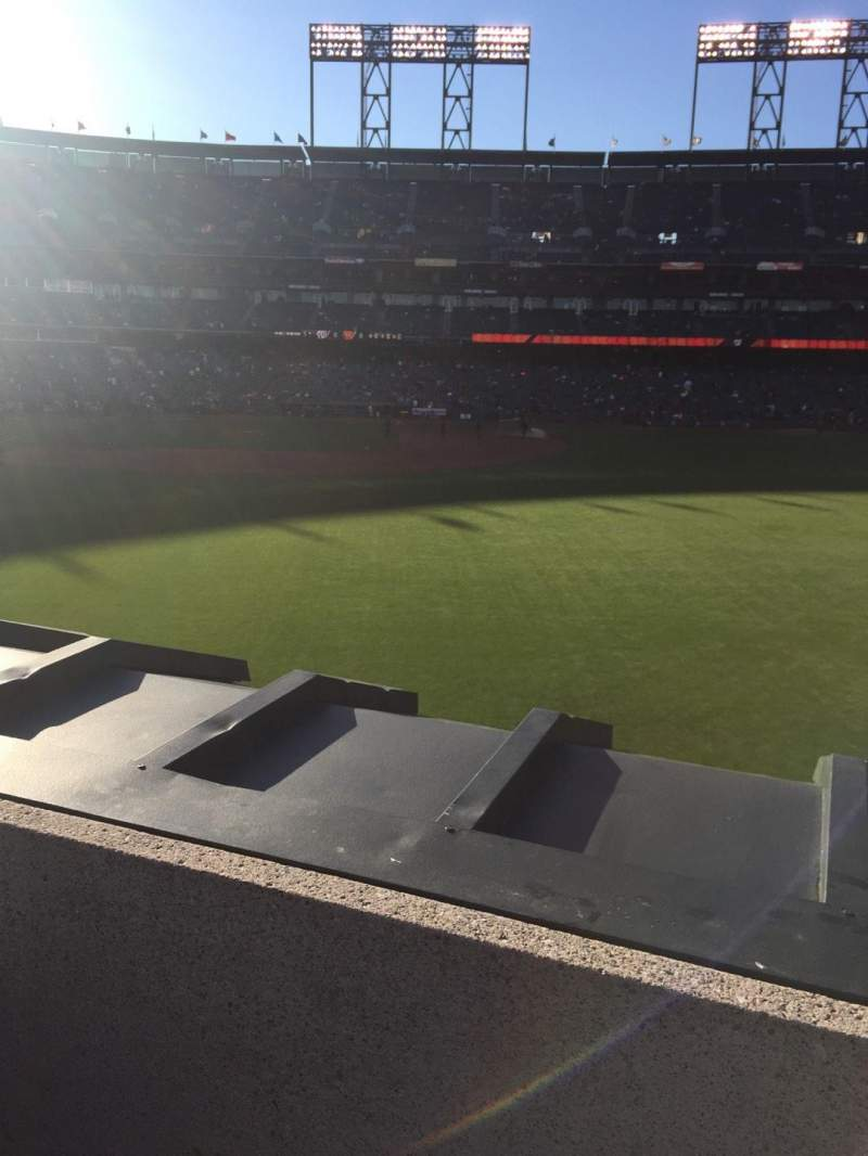 Seating view for AT&T Park Section 148 Row 2 Seat 5
