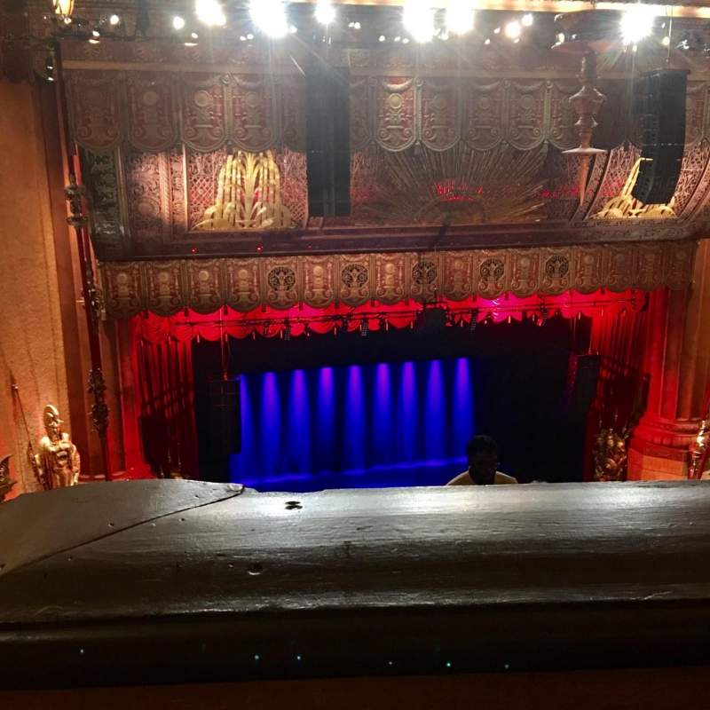 Seating view for Beacon Theatre Section Upper Balcony 1 Row J Seat 15