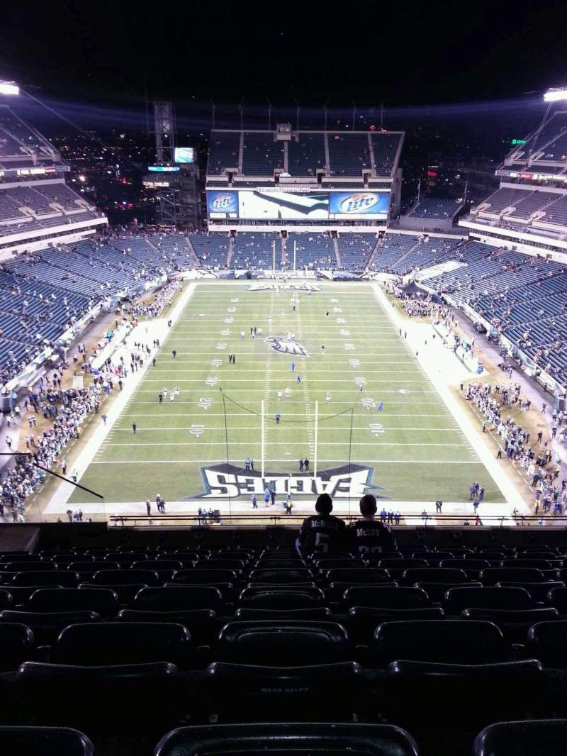 Seating view for Lincoln Financial Field Section 212 Row 13 Seat 11