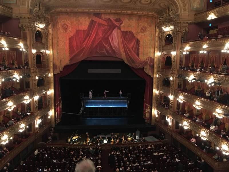 Seating view for Teatro Colón Section Cazuela Centro Row 3 Seat 71