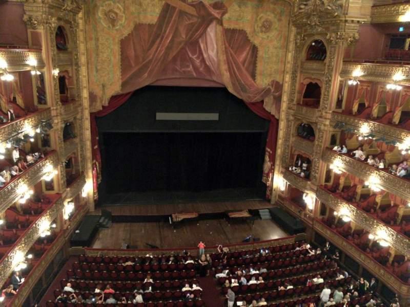 Seating view for Teatro Colón Section Tertulia Centro Row 1 Seat 101