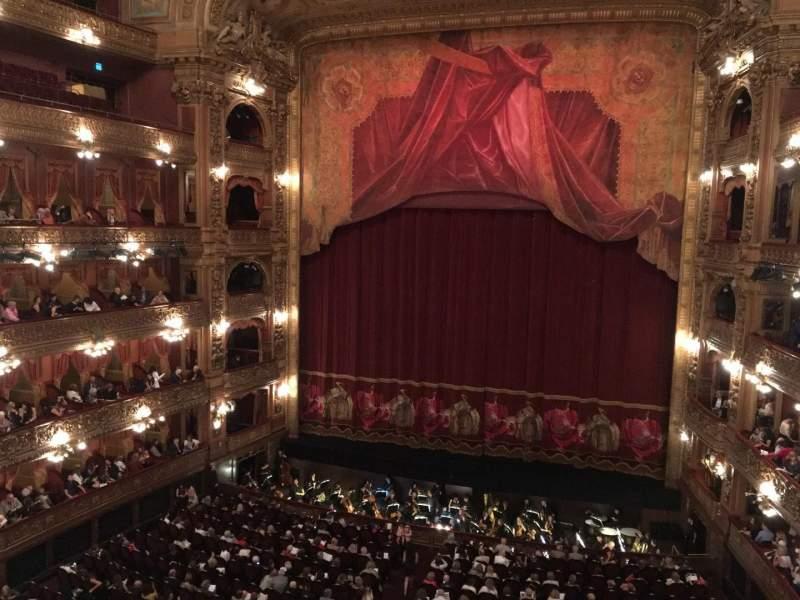 Seating view for Teatro Colón Section Cazuela Centro Row 1 Seat 64