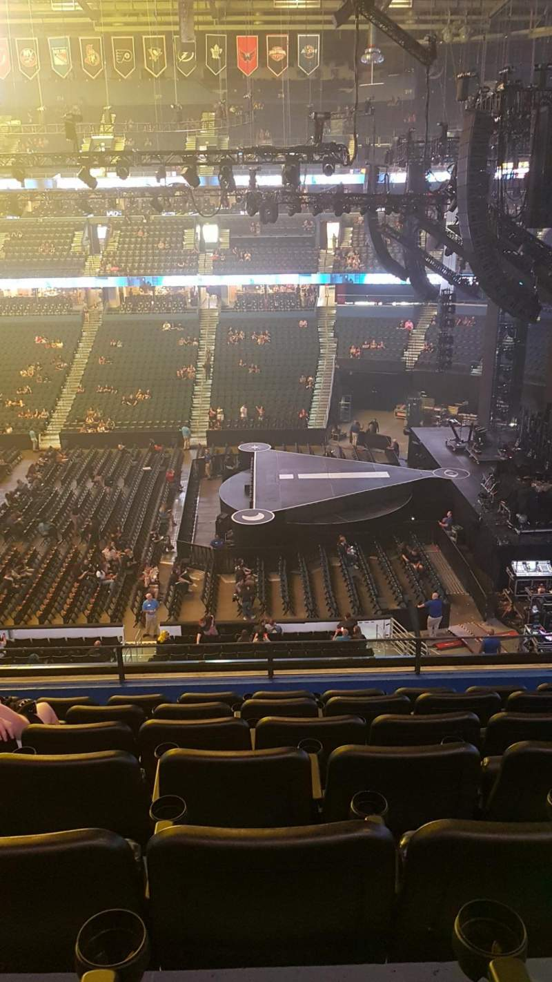 Amalie Arena, section: 229, row: G, seat: 9
