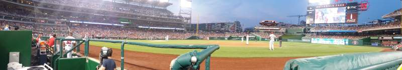Seating view for Nationals Park Section 130 Row 2 Seat 1
