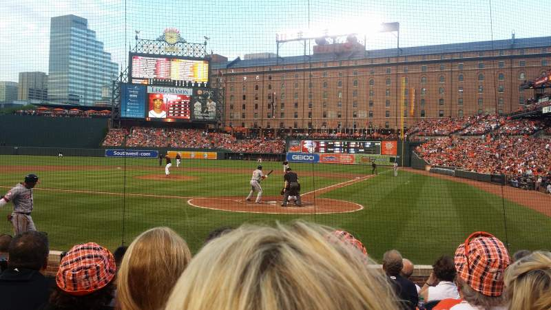Seating view for Oriole Park at Camden Yards Section 40 Row 9