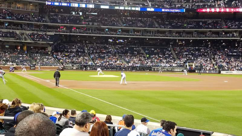 Seating view for Citi Field Section 107 Row 7 Seat 11