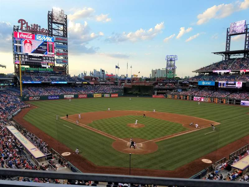 Seating view for Citizens Bank Park Section 222 Row 1 Seat 9