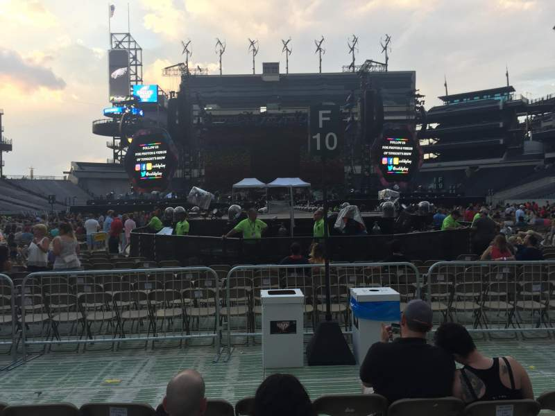 Seating view for Lincoln Financial Field Section F15 Row 7 Seat 18