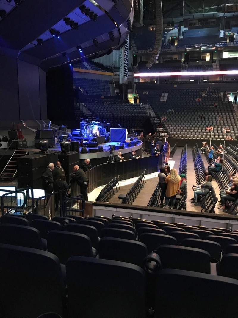 Seating view for Bridgestone Arena Section 114 Row JJ Seat 14