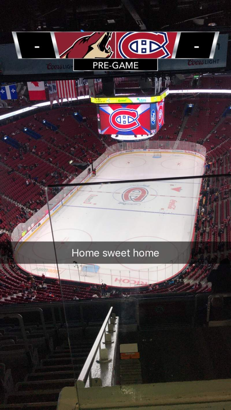 Seating view for Centre Bell Section 309 Row C Seat 1