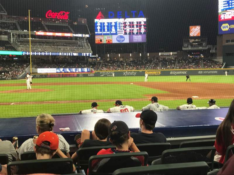 SunTrust Park, section: 20, row: 10, seat: 6