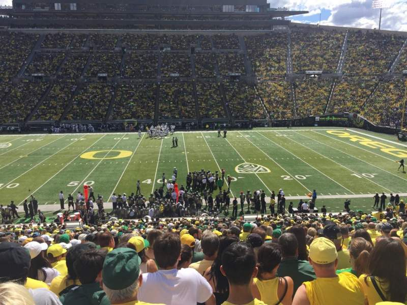 Seating view for Autzen Stadium Section 10 Row 41