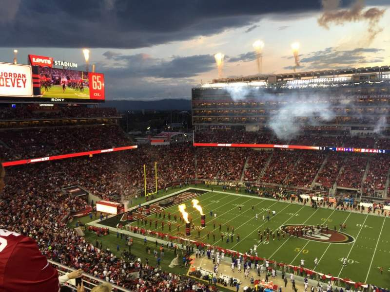 Seating view for Levi's Stadium Section 313 Row 4 Seat 14