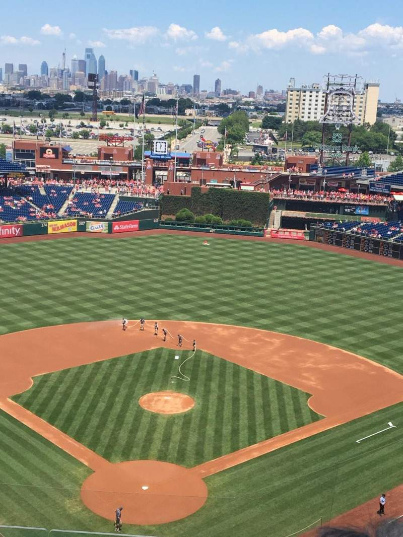 Seating view for Citizens Bank Park Section 420 Row 6 Seat 13