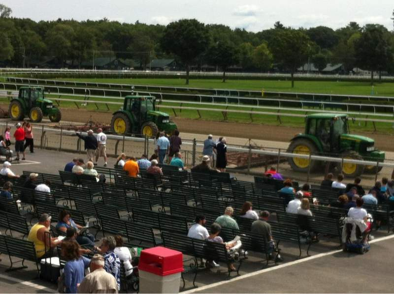 Seating view for Saratoga Race Course Section Grandstand