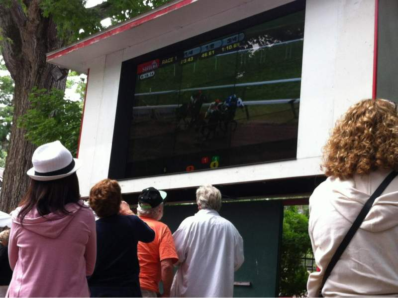 Seating view for Saratoga Race Course Section The Back Yard