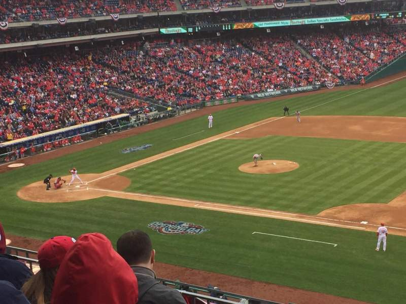 Seating view for Citizens Bank Park Section 213 Row 4 Seat 4