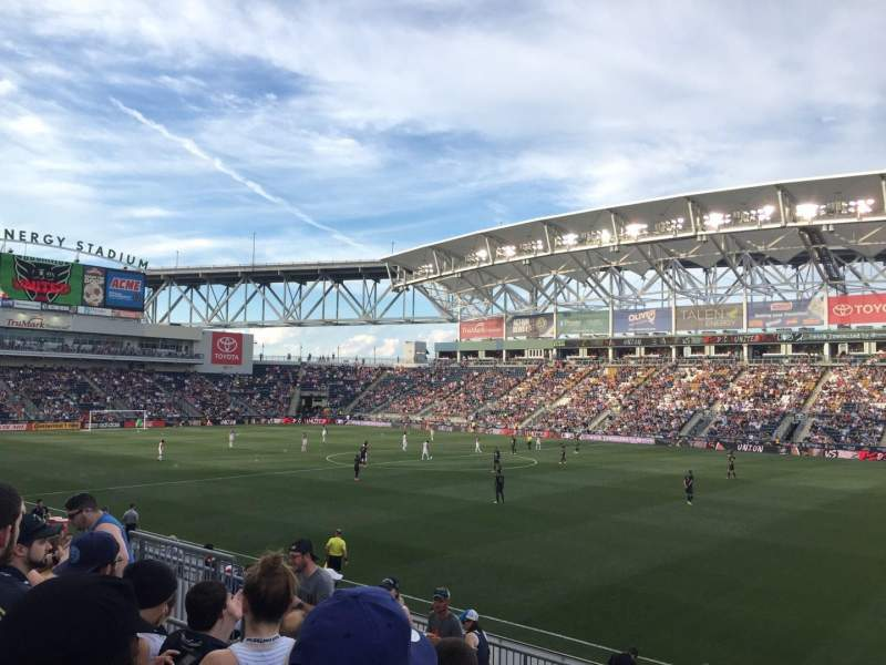 Seating view for Talen Energy Stadium Section 103 Row N Seat 14