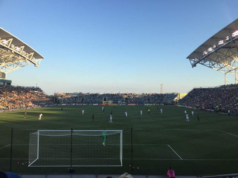Seating view for Subaru Park Section 117 Row M Seat 02