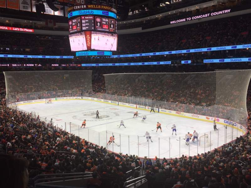 Seating view for Wells Fargo Center Section Club Row A Seat 5