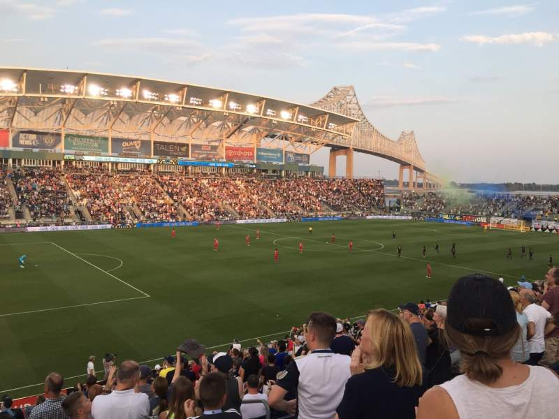 Seating view for Talen Energy Stadium Section 112 Row V Seat 105