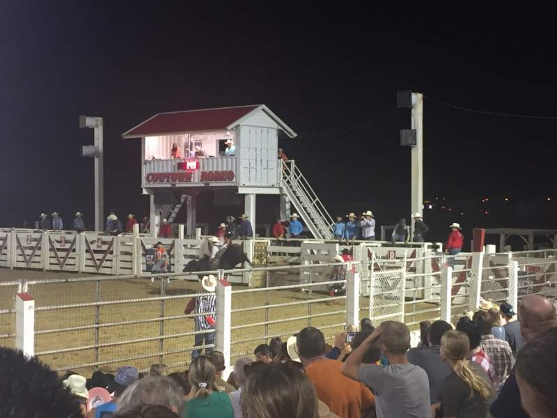 Seating view for Cowtown Rodeo Section General Admission Row 8  Seat South Bleachers