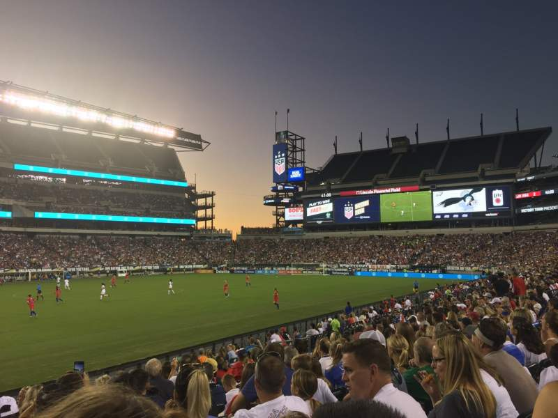 Seating view for Lincoln Financial Field Section 117 Row 10 Seat 30