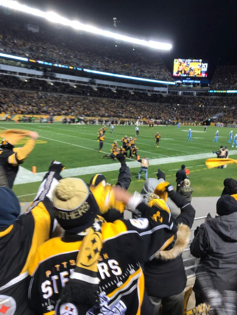 Seating view for Heinz Field Section 102 Row 4 Seat 11