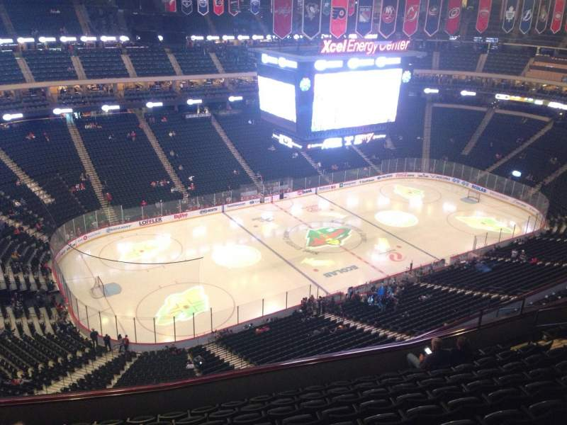 Seating view for Xcel Energy Center Section 222 Row 10 Seat 16