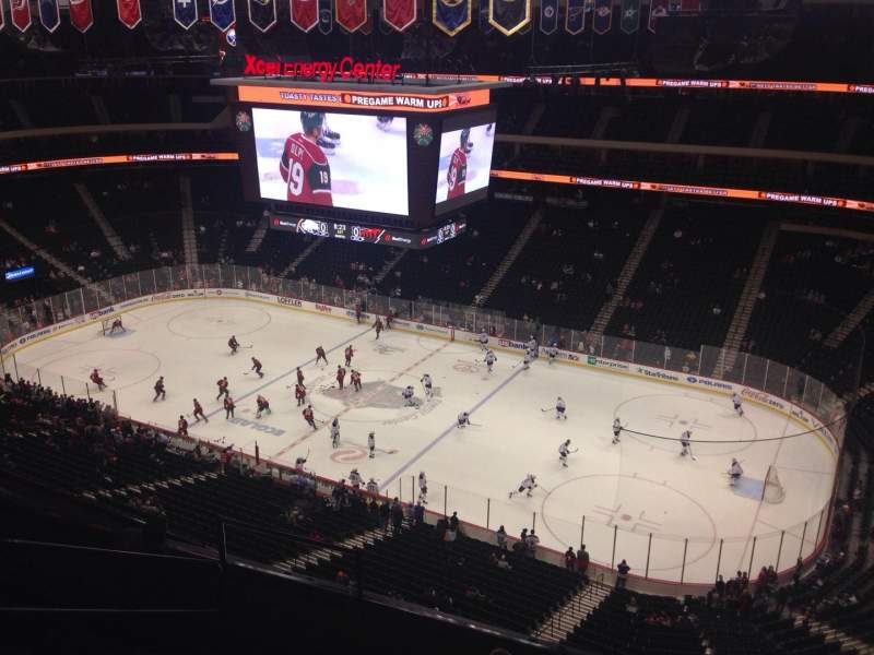 Seating view for Xcel Energy Center Section 216 Row 6 Seat 19