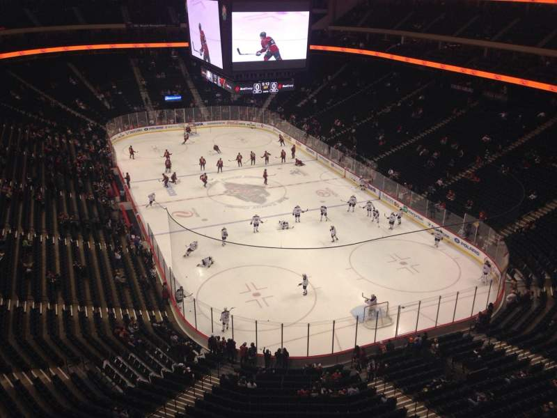 Seating view for Xcel Energy Center Section 214 Row 1 Seat 1