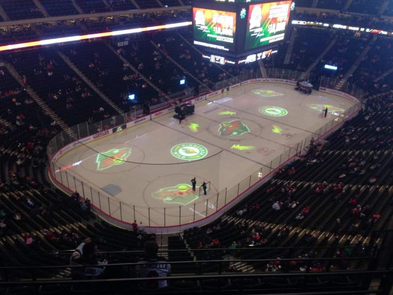 Seating view for Xcel Energy Center Section 208 Row 5 Seat 1