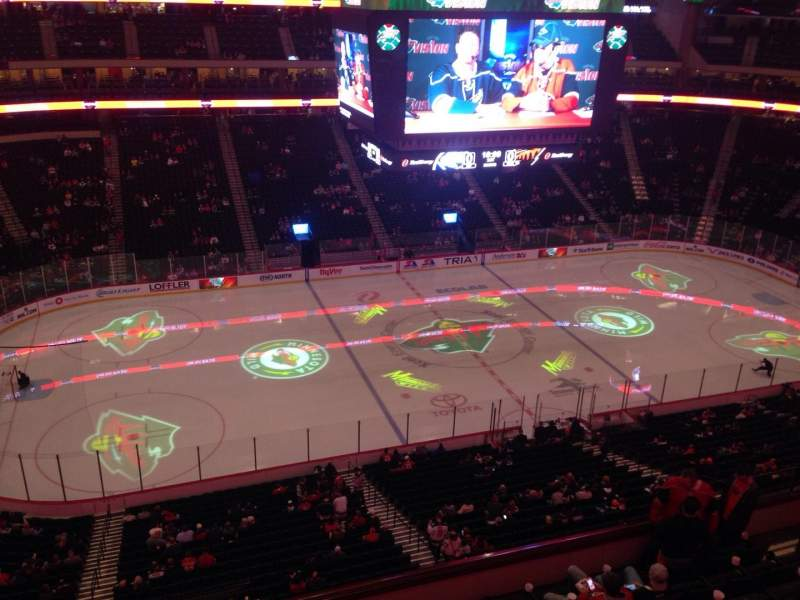 Seating view for Xcel Energy Center Section 205 Row 1 Seat 5