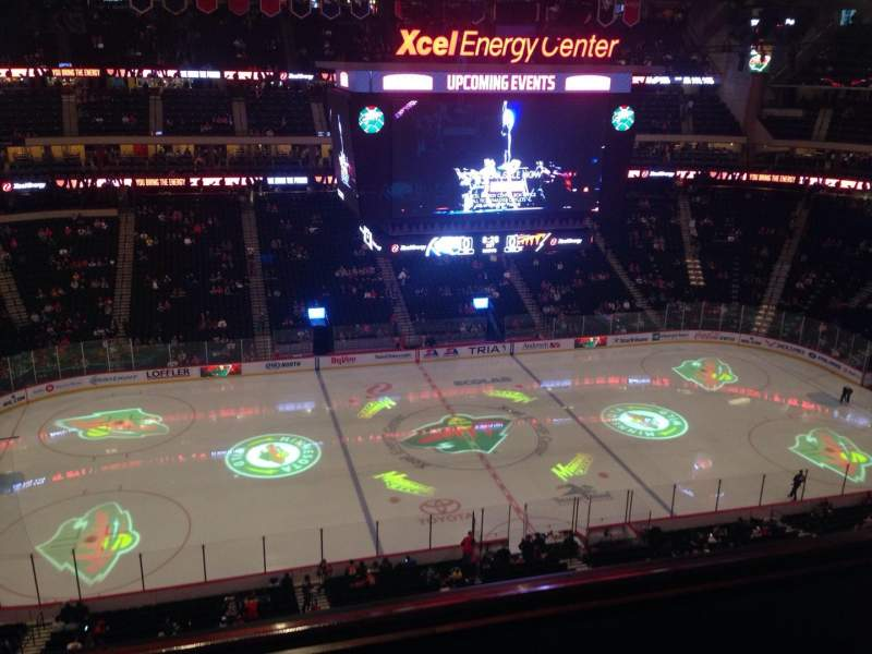 Seating view for Xcel Energy Center Section 205 Row 3 Seat 17