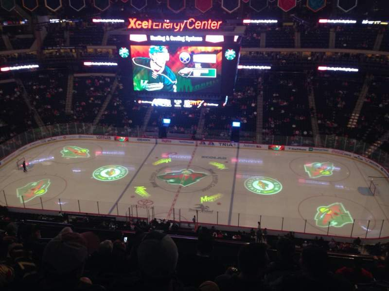 Seating view for Xcel Energy Center Section 203 Row 9 Seat 13
