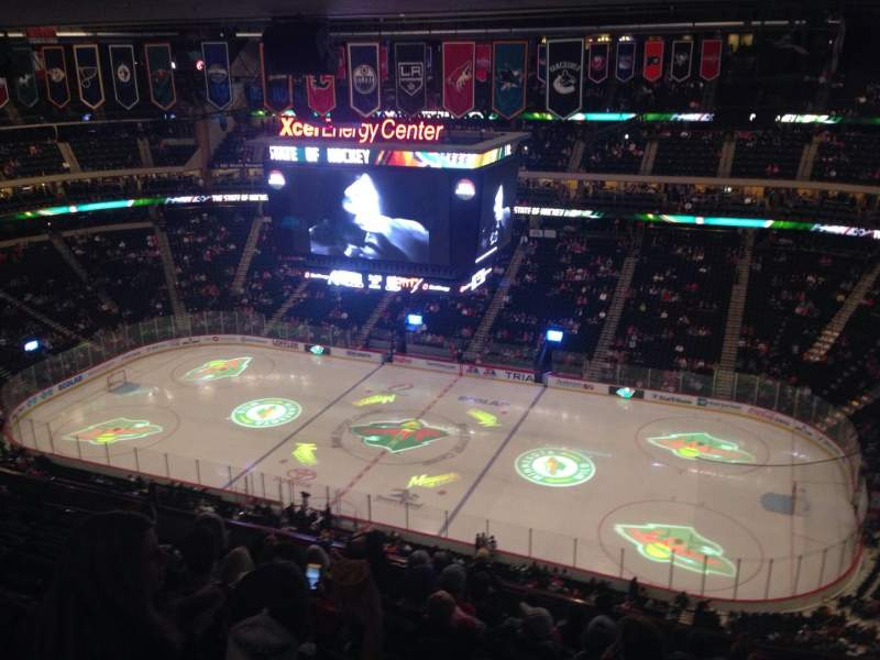 Seating view for Xcel Energy Center Section 202 Row 11 Seat 1