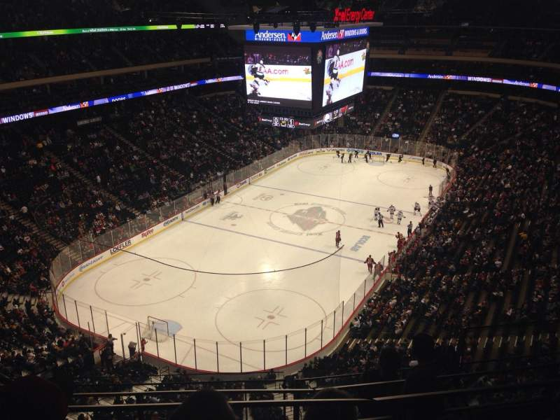Seating view for Xcel Energy Center Section 224 Row 4 Seat 5