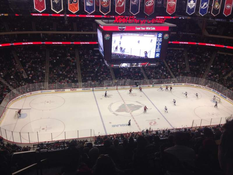 Seating view for Xcel Energy Center Section 220 Row 10 Seat 19