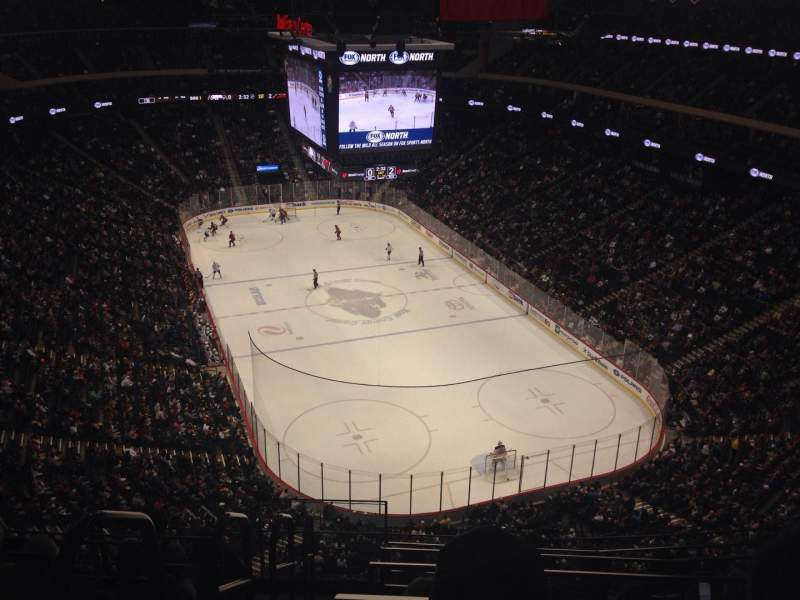 Seating view for Xcel Energy Center Section 213 Row 6 Seat 18