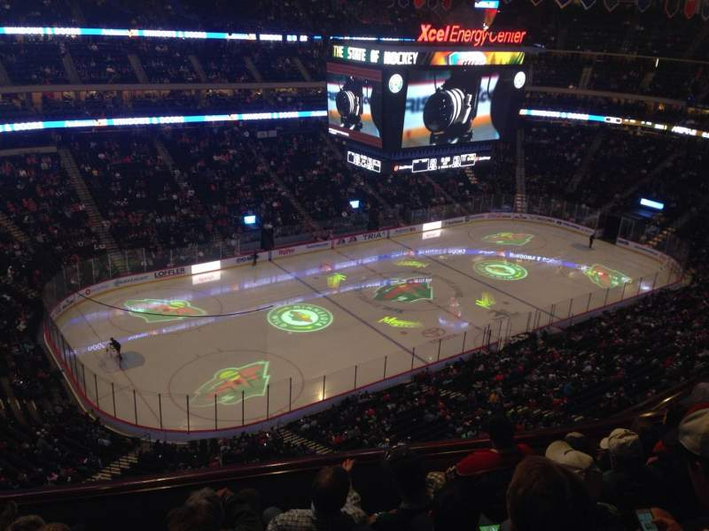 Seating view for Xcel Energy Center Section 207 Row 6 Seat 23