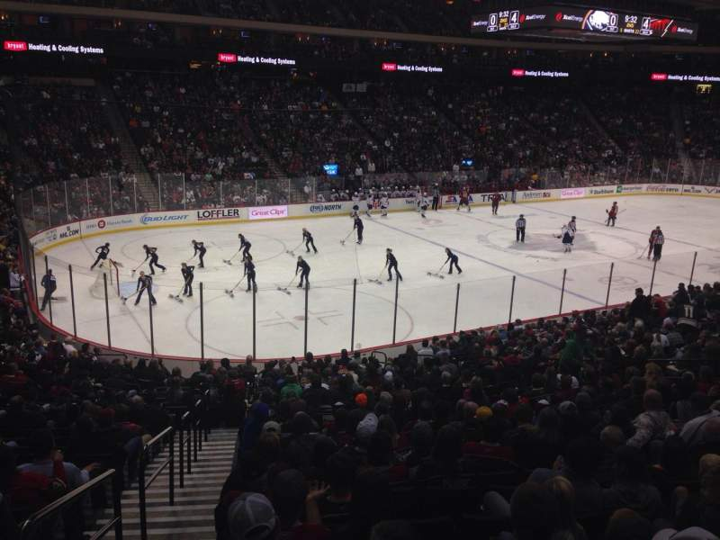 Seating view for Xcel Energy Center Section 106 Row 23 Seat 20