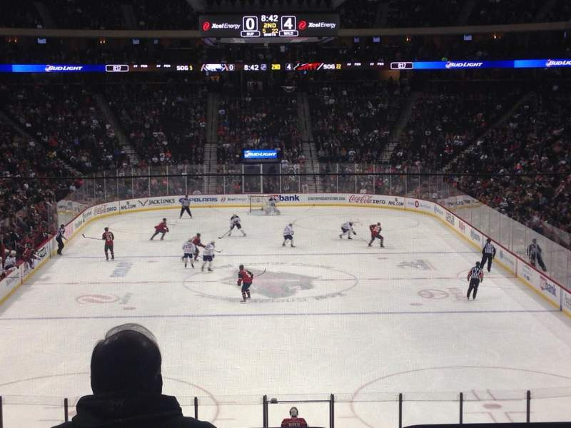 Seating view for Xcel Energy Center Section 110 Row 24 Seat Standing