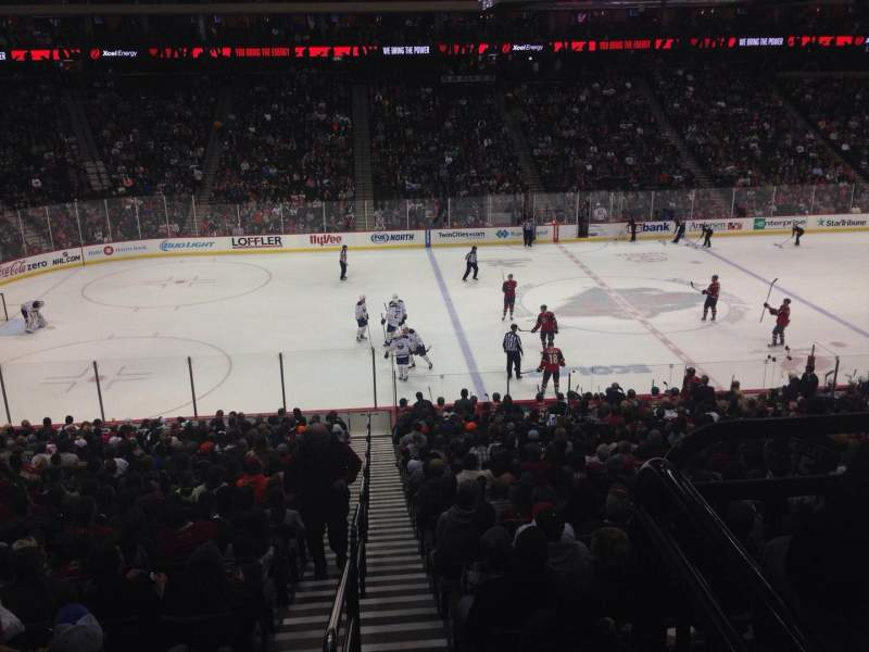 Seating view for Xcel Energy Center Section 118 Row 26 Seat Standing