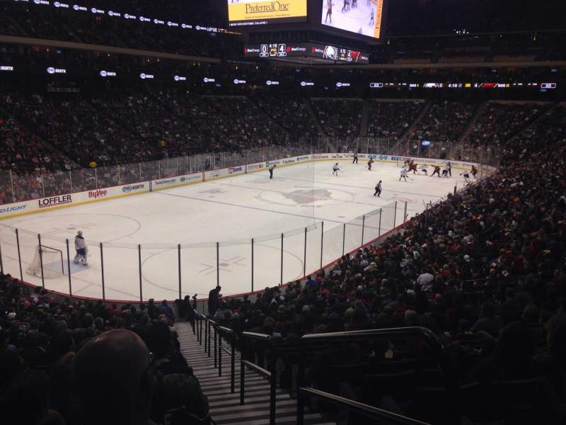 Seating view for Xcel Energy Center Section 121 Row 25 Seat 1