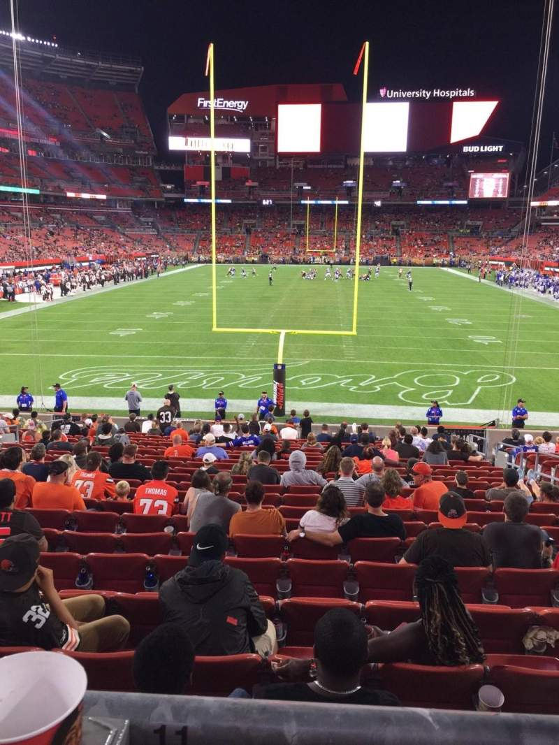 Seating view for FirstEnergy Stadium Section 147 Row WC Seat 11