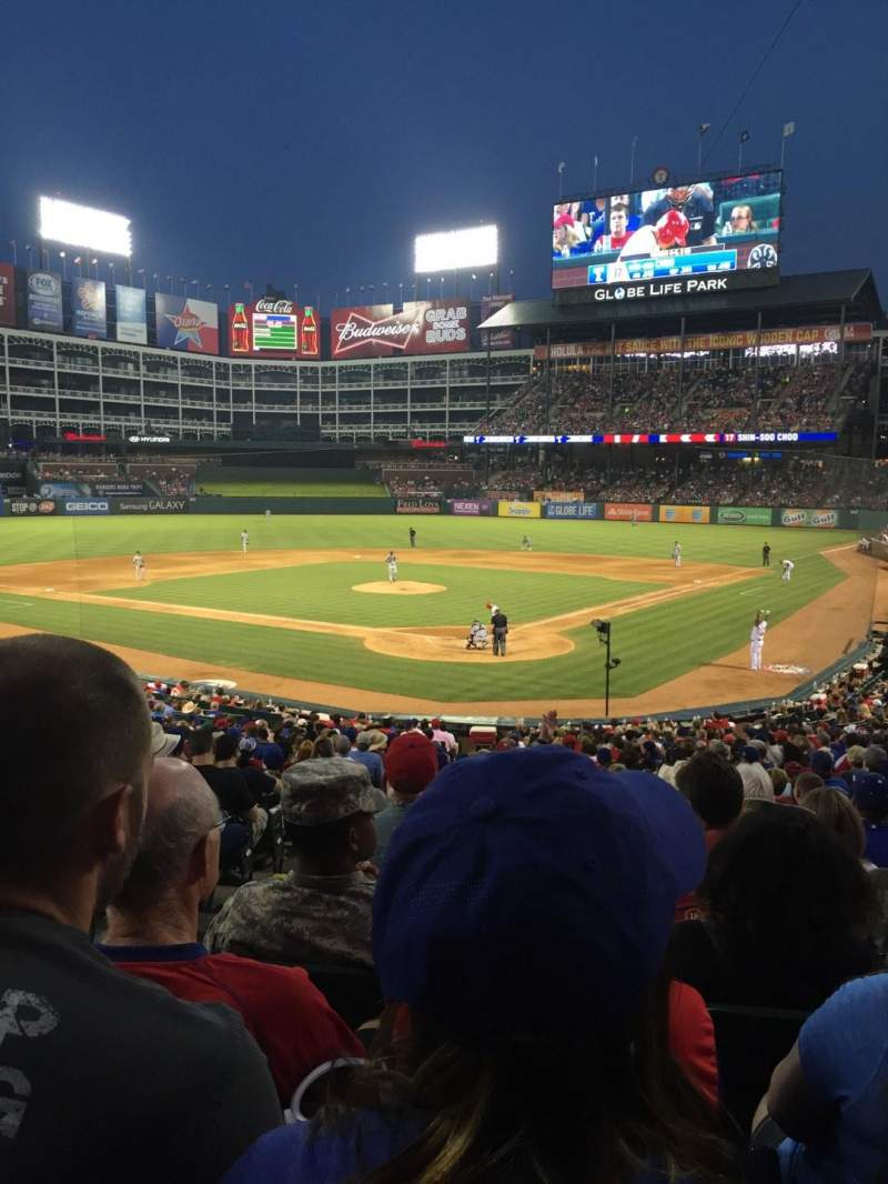 Seating view for Globe Life Park in Arlington Section 25 Row 26 Seat 2