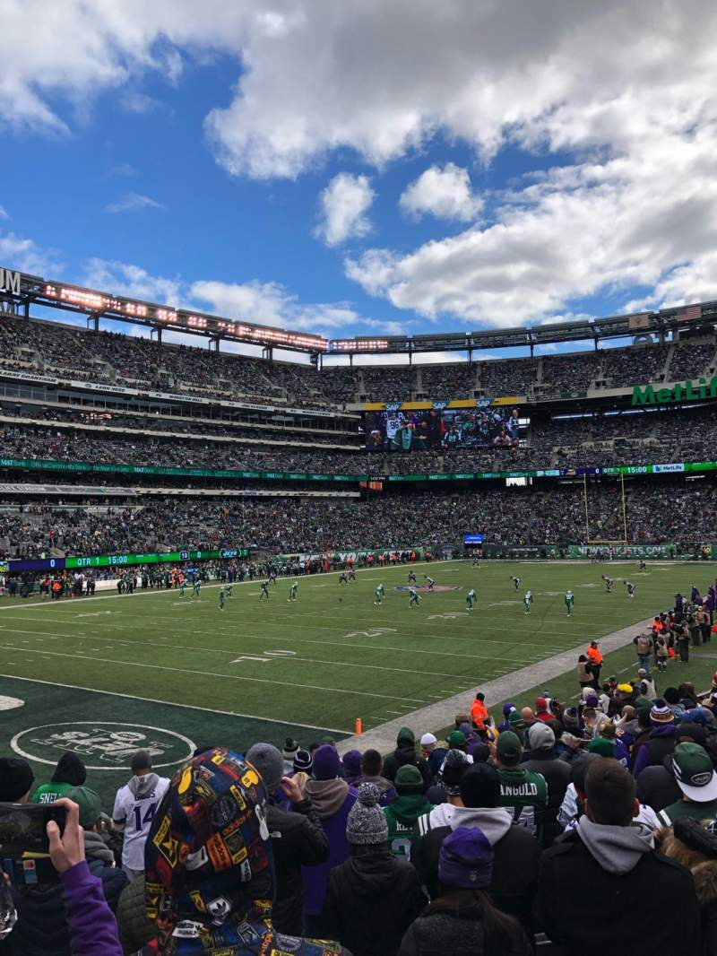 Seating view for MetLife Stadium Section 146 Row 11 Seat 7